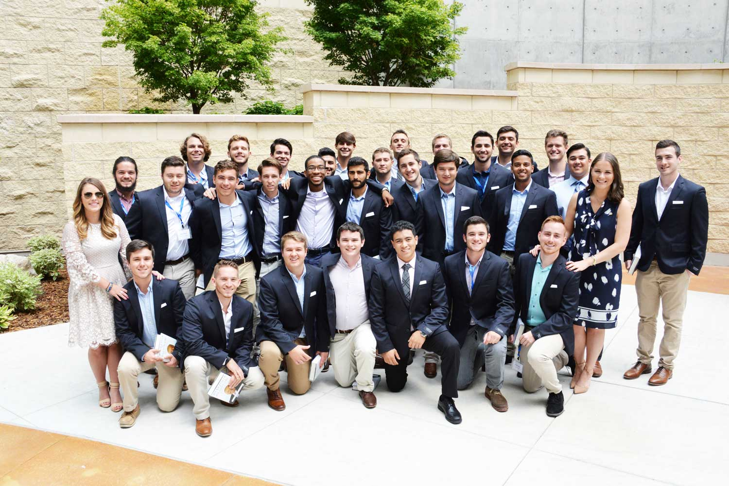 2017 20K club in Sigma Chi Friendship Garden at Huntsman Cancer Institute
