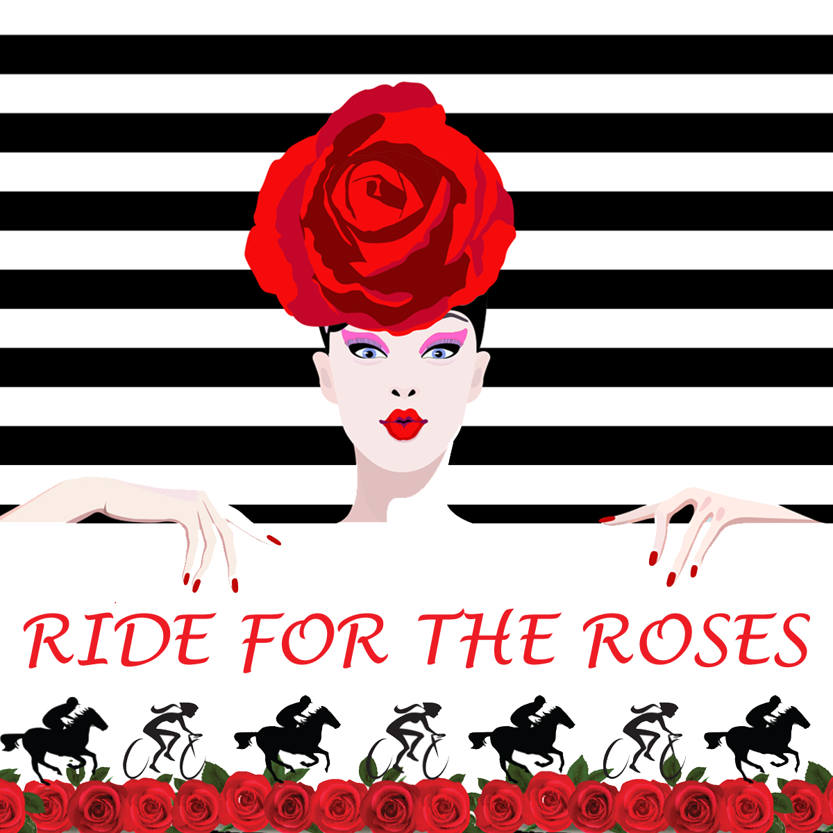Little Red Riding Hood Cycling Ride 2019, Ride For The Roses