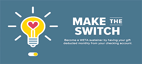 "A graphic with a lightbulb with heart for a filament, and next to it the words:  ""Make the Switch."""