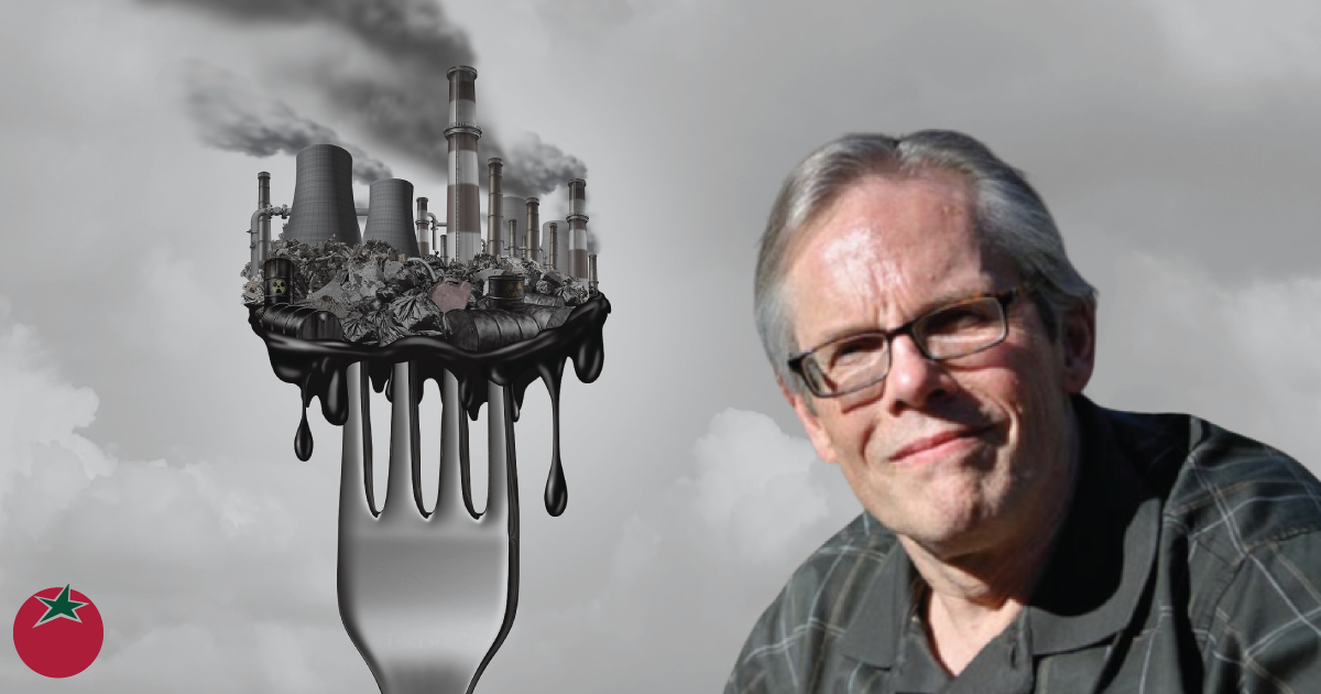 W Michael McCabe and a fork with pollution