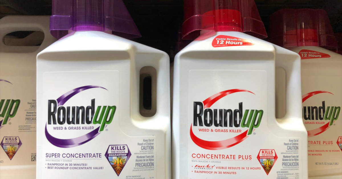 Monsantos glyphosate herbicide ROUNDUP on a store shelf