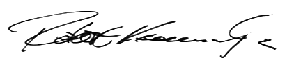 signature for Robert F Kennedy Jr