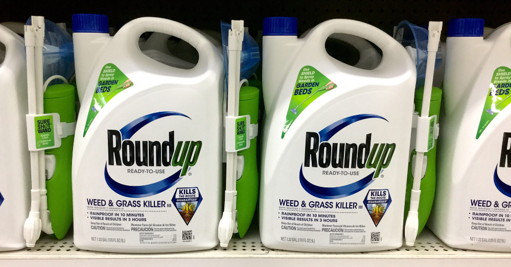 Monsantos Roundup with glyphosate on a store shelf
