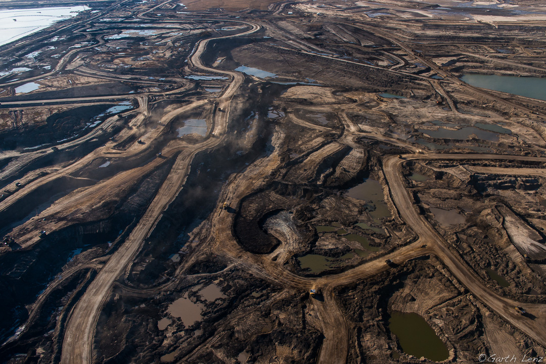 What the Teck mine would look like. Photo of the Alberta tar sands by Garth Lenz.